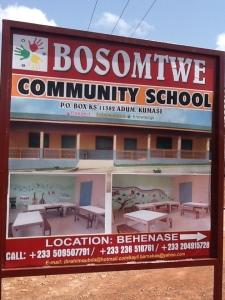 BCS school sign